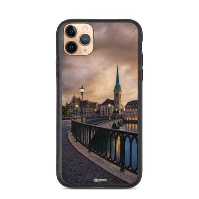 Biodegradable iPhone case - Zurich Summer Sunset manumo-photography.