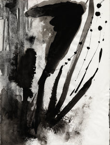 "Untitled ""D"" 1997 Ink Painting"