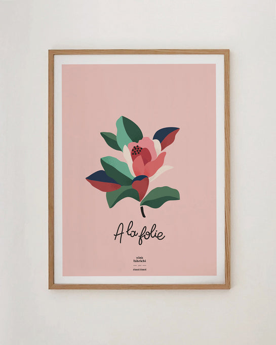 L'affiche Mother nature - rose poudré - Zina Lahrichi x émoi émoi