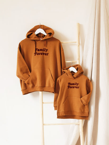 Le duo de hoodies Family Forever - caramel