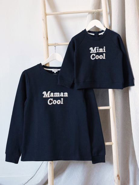 Le duo de sweats Maman cool / Mini cool en coton bio - charbon