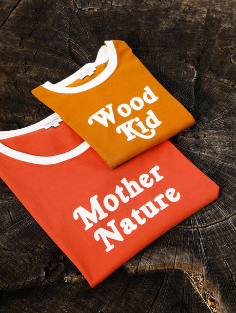 Le duo de t-shirts Mother Nature / Wood kid en coton bio