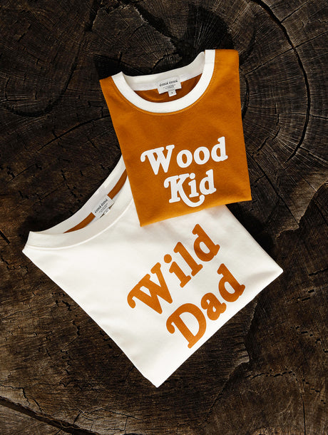 Le duo de t-shirts Wild dad / Wood kid en coton bio