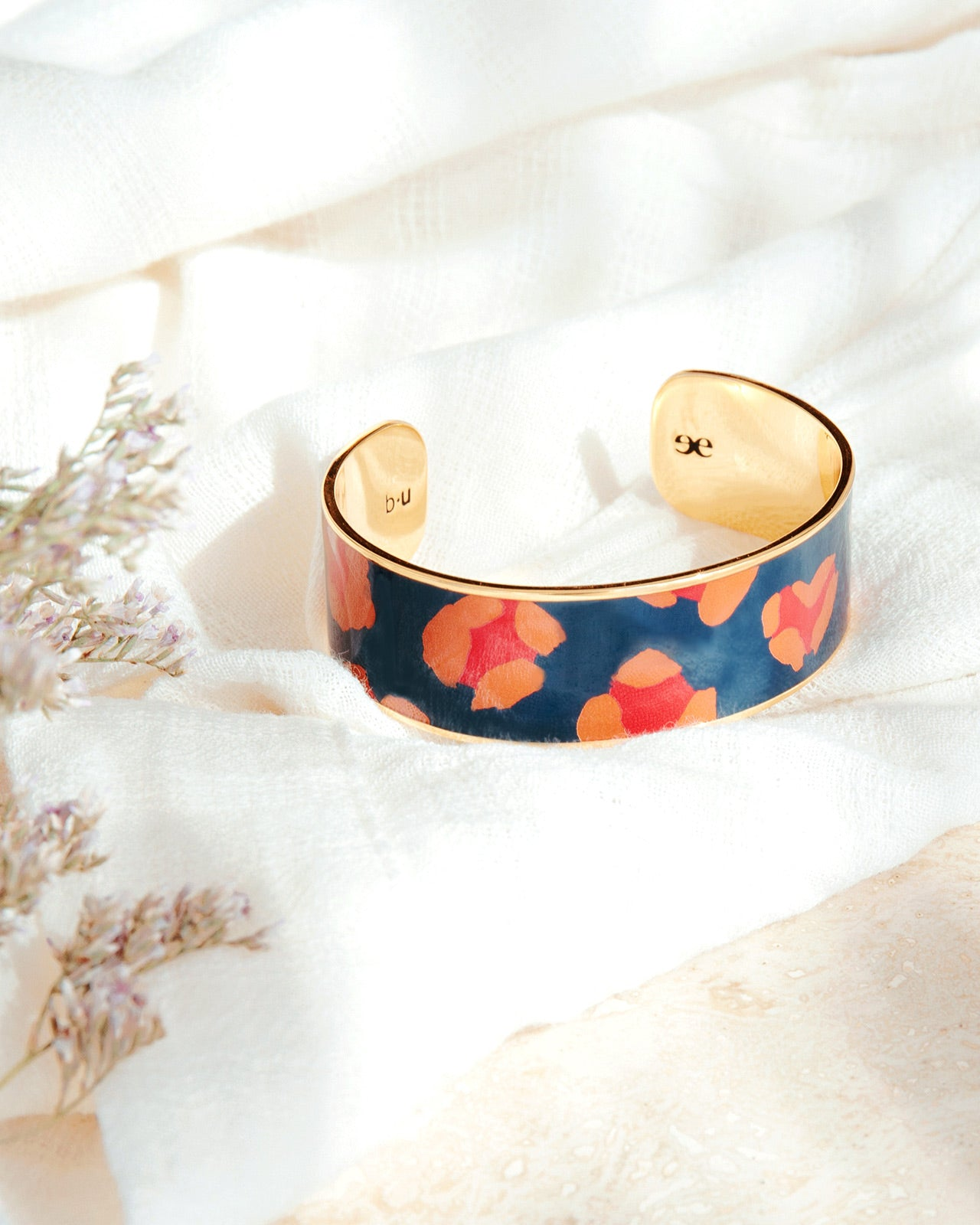 Le jonc Léo Léo bleu nuit 2 cm - Bangle up x émoi émoi