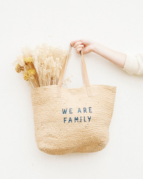 Le panier We are Family - naturel