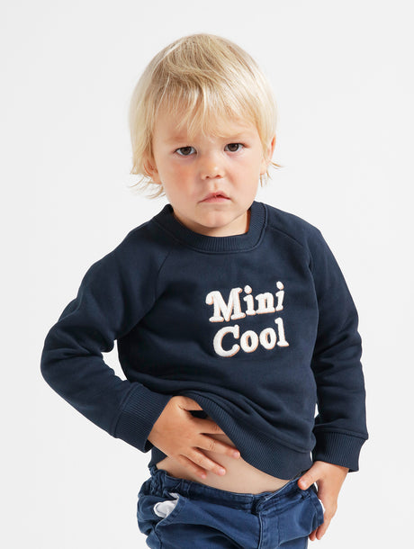 Le sweat Mini cool en coton bio - charbon