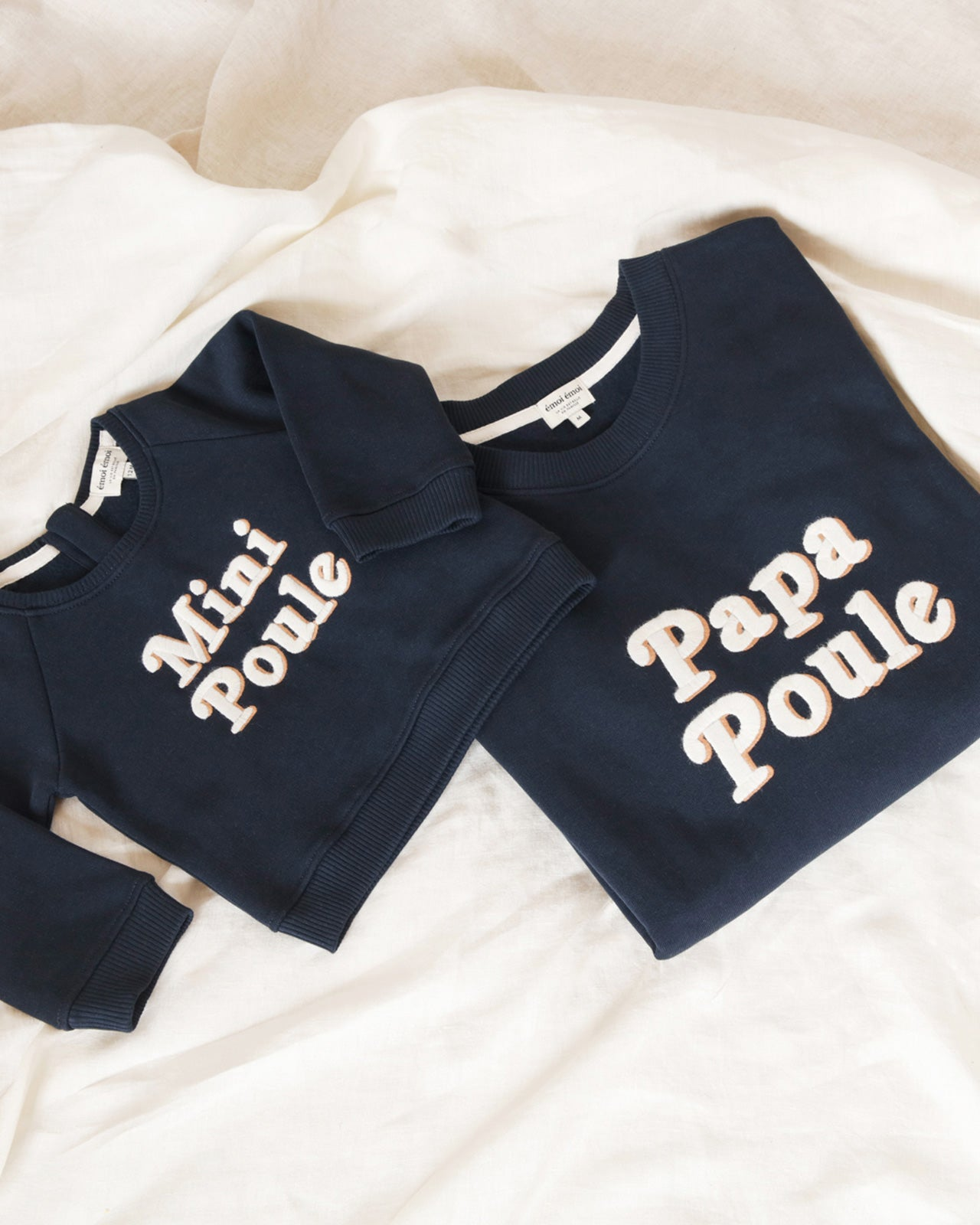 Le sweat Mini poule en coton bio - charbon