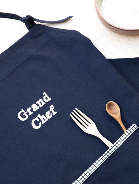 Le tablier Grand chef - bleu