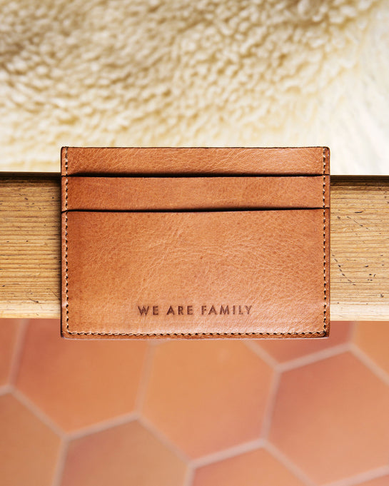 Le porte-cartes We are family – cuir