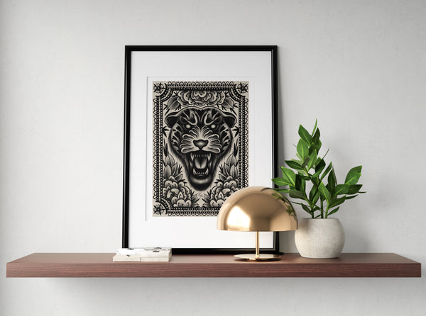 Spotted Heart Jaguar Print