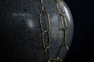 Brass Large Link Necklace