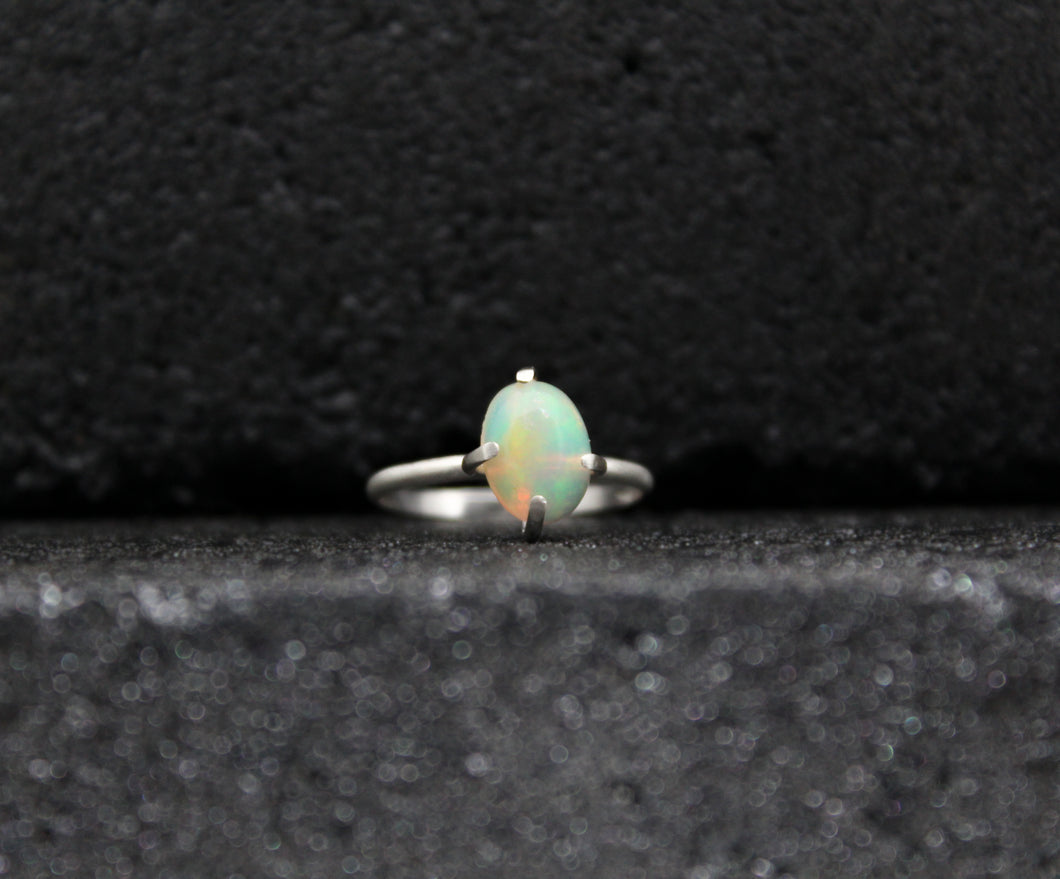Ethiopian Opal Prong Set Ring