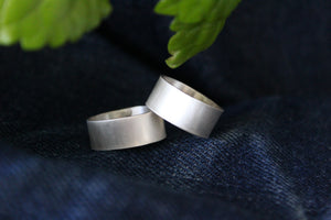 Brushed Silver Cuff Ring