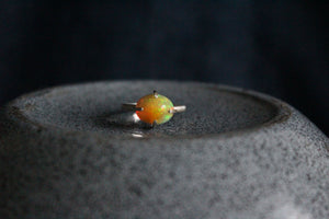 Pinfire Prong Set Opal Ring