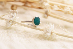 Small Teal Agate Ring