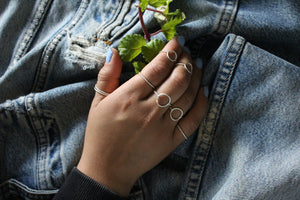 Simple Sterling Stacker Ring
