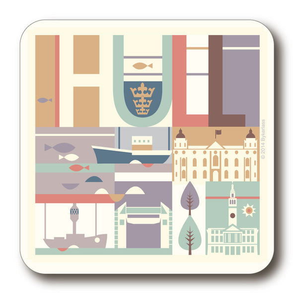 Hull City Scape Coaster with boat