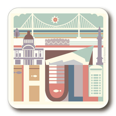 Hull City Scape Coaster with Bridge