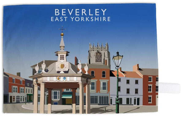 Beverley Market Cross tea towel