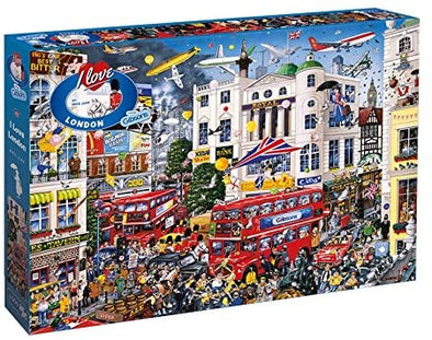 I Love London 1000 piece jigsaw