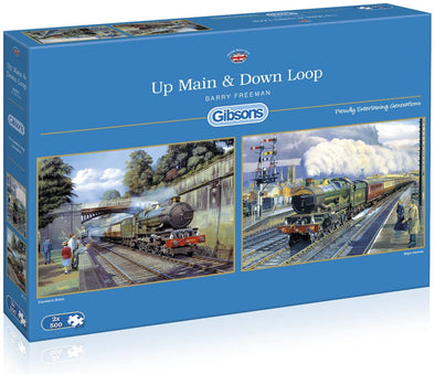 Up Main and Down Loop 2 x 500 Piece Jigsaw