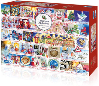 Christmas Alphabet 1000 piece jigsaw