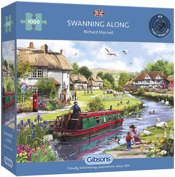 Swanning Along 1000 piece jigsaw