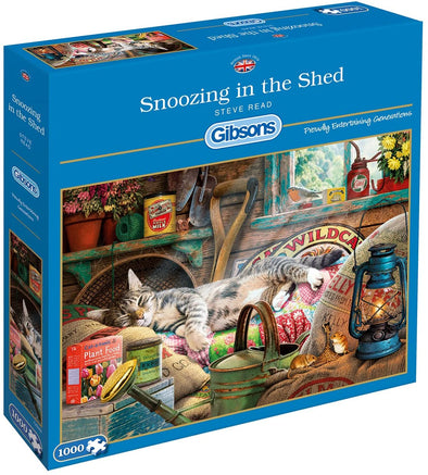 Snoozing in the Shed 1000 piece jigsaw