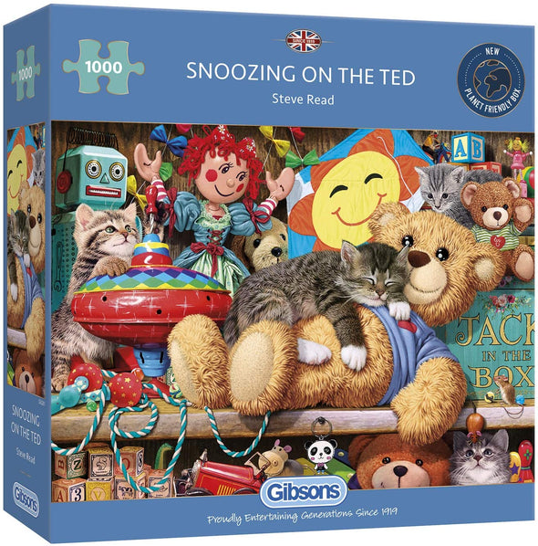 Snoozing on the Ted 1000 piece jigsaw