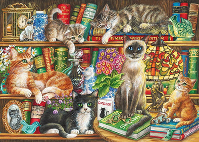 Puss in Books 1000 piece jigsaw