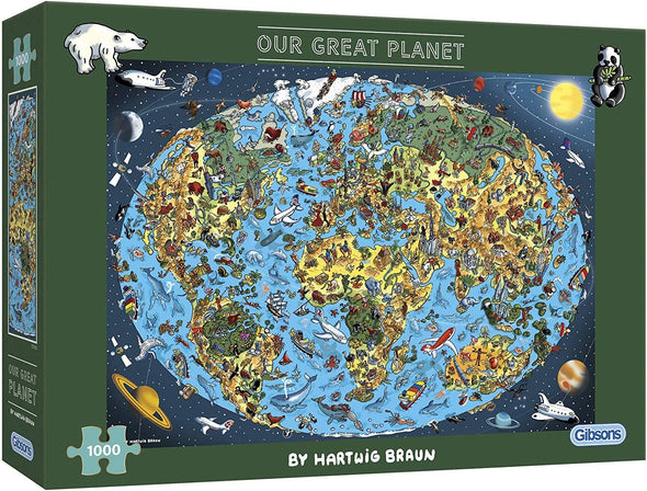 Our Great Planet 1000 Piece Jigsaw