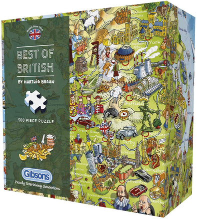 Best of British Gift Box 500 Piece Jigsaw