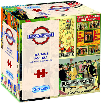 TFL Heritage Posters 500 piece gift box jigsaw