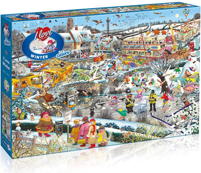 I Love Winter 1000 piece jigsaw