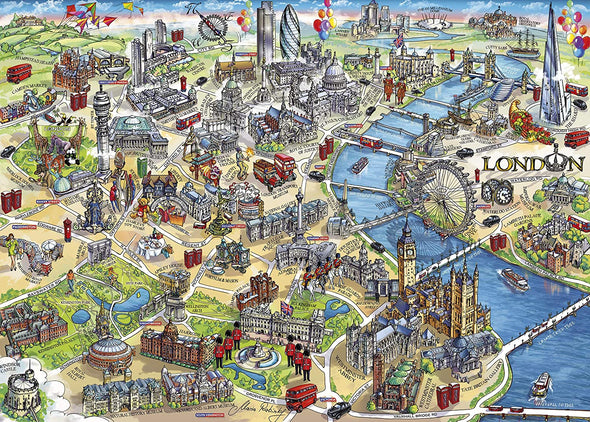 London Landmarks 500 piece jigsaw