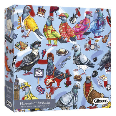 Pigeons of Britain 1000 Piece Jigsaw