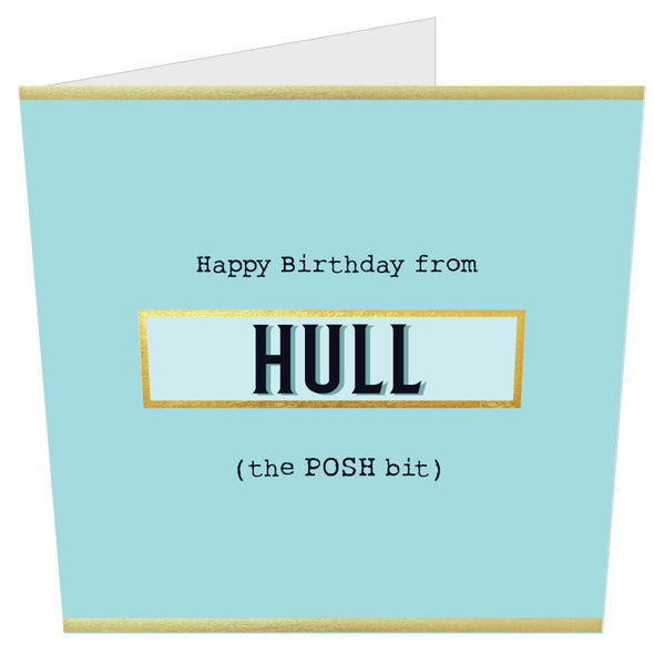 Happy Birthday from Hull (the POSH Bit) MINTY BLUE
