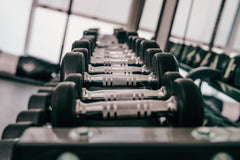 Rack of dumbbell weights