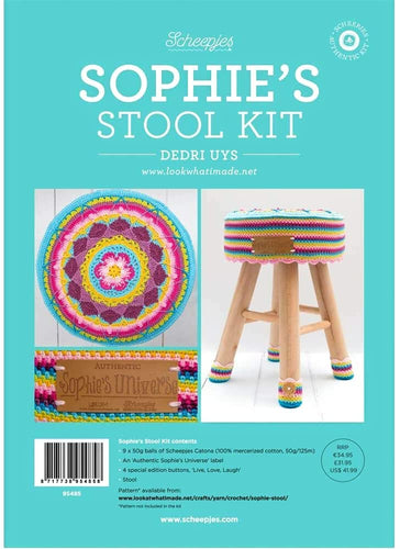 Scheepjes Sophie's Stool Kit Crochet Singapore Sg WoopiWool&Yarn Patterns Colours  Crochet Hobbies Spotlight