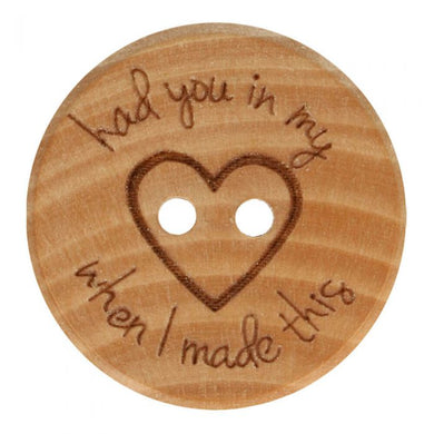 Free Shipping Had You in my heart wooden button Accessories 32 40 Yarn Crochet Singapore Sg Spotlight Woopi Wool & Yarn