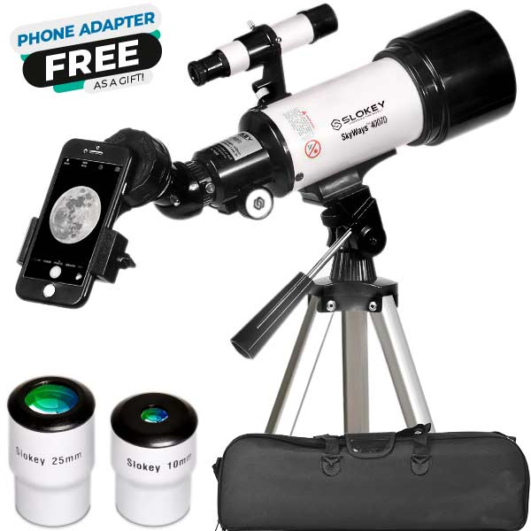 Astronomical Telescope SkyWays 40070 - Portable and Powerful 16x-120x Travel Scope