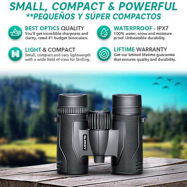 8x32 Binoculars for Bird Watching - Rated