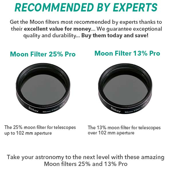 "Moon Filter 1.25"" for High Quality Astronomical Telescope Eyepieces"