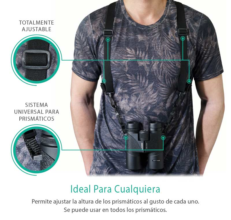 Binocular Harness - The Best Binocular Accessory. Universal for All Binoculars - Slokey