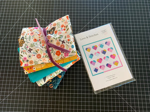 Five Fat Quarter & Yardage Quilt Kit with Love & Stitches Pattern | Dashwood Studio
