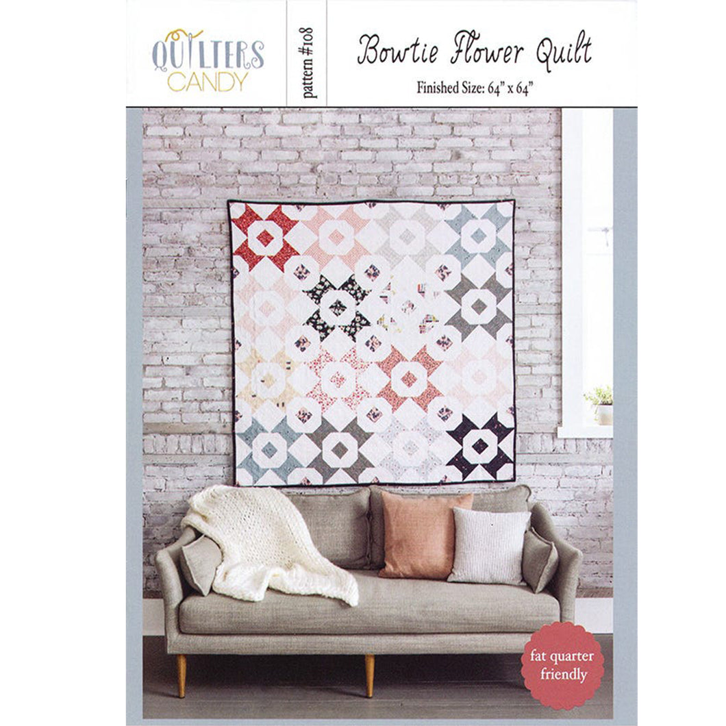 Bowtie Flower PAPER Quilt Pattern by Quilters Candy