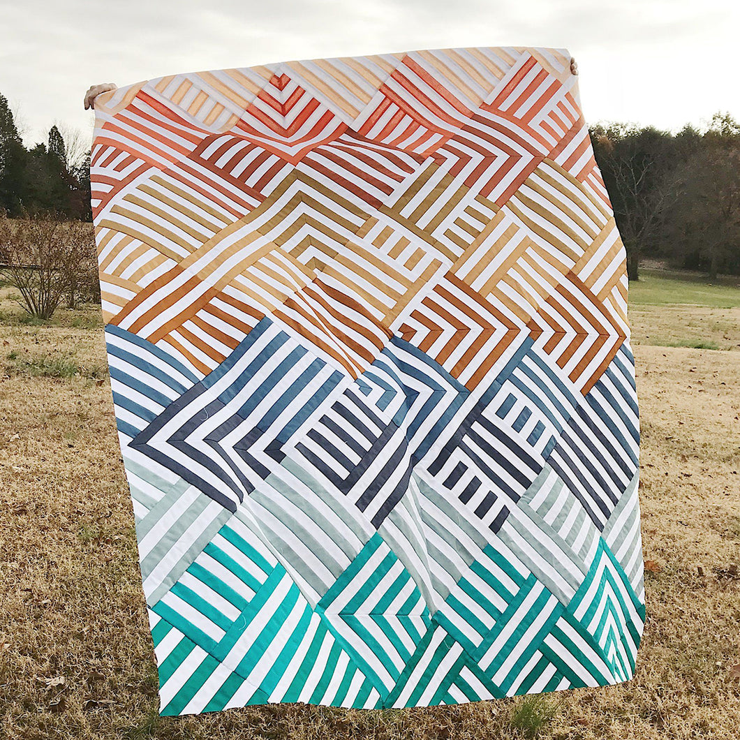 Interwoven Quilt PAPER Pattern by Lo & Behold Stitchery