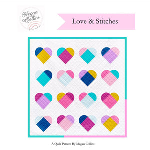 Love & Stitches PAPER Quilt Pattern by Megan Collins