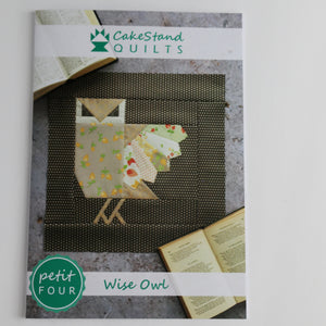 Wise Owl Block PAPER Pattern by Cakestand Quilts