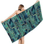 Load image into Gallery viewer, Mysterious Geometric Printing Sunscreen Quick-drying Bath Towel Shawl